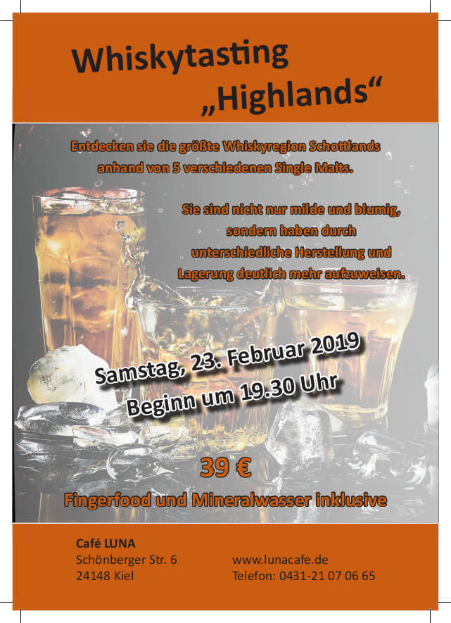 Whiskytasting Highlands