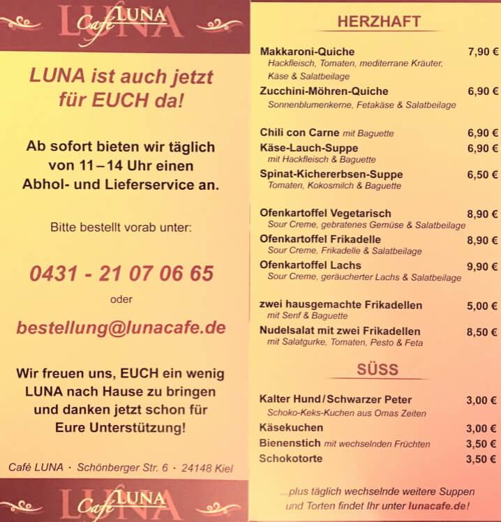 Lieferservice Café LUNA